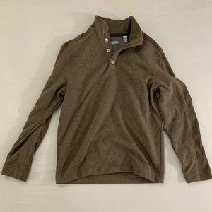 1/4 Zip Brown VanHeusen Sweater Size M; 15-15 1/2